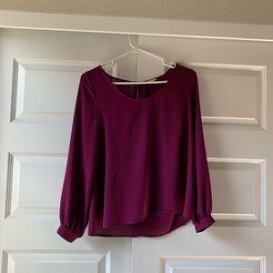 Purple Tobi long sleeve top!
